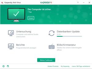 Kaspersky Dashboard